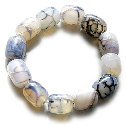 Good Luck Talisman Large Nuggets Natural Agate Bracelet