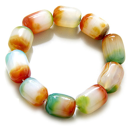 Good Luck Large Nuggets Candy Agate Bracelet