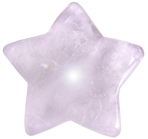 Gemstone Good Luck Charm Star In Amethyst