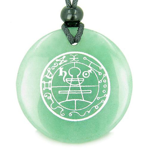 Secret Seal of Solomon Protection Powers Talisman Magic Gemstone Pendant Necklace