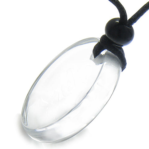 Amulet Powers to Stay the BEST in the World Magic Powers Quartz MedalliCircle Pendant Necklace