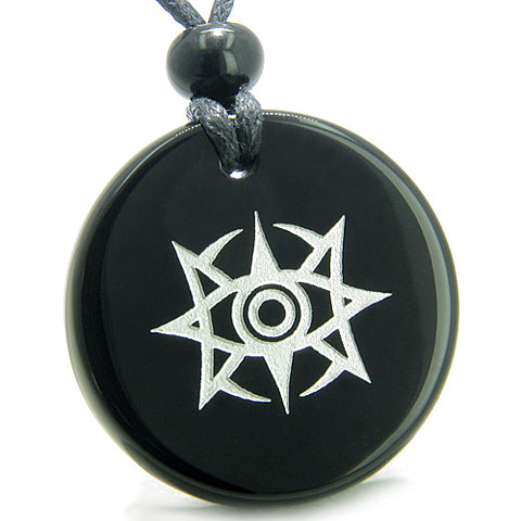 Amulet Celestial Eye Supernatural Minrozian Empire ProtectiPower Onyx MedalliPendant Necklace