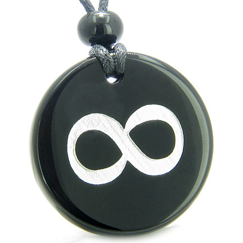 Amulet Eternity Infinity Possibilities Magic Protection Powers Onyx Medallion Necklace