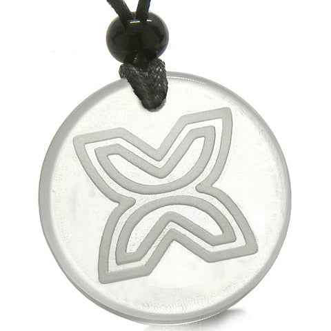 Amulet Inner Freedom Independence Protection Powers Quartz Medallion Circle Pendant Necklace