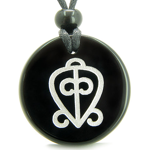 Amulet Power of Infinite Supernatural Love Protection Energies Onyx Medallion Necklace
