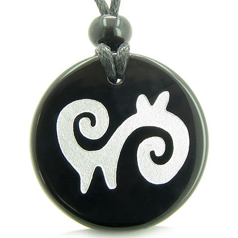 Amulet Supernatural Energy Spiritual Path Protection Powers Onyx Medallion Necklace