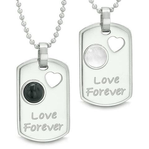 Love Forever Positive Energy Amulets Heart Yin Yang Love Couples Necklaces