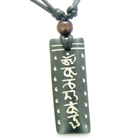 Amulet Tibetan Tag Mantra Om Mani Padme Hum Prayer Natural Bone Magic Pendant Necklace