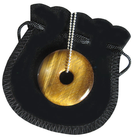 The Evil Eye Protection Talisman Donut With Silver Chain 2