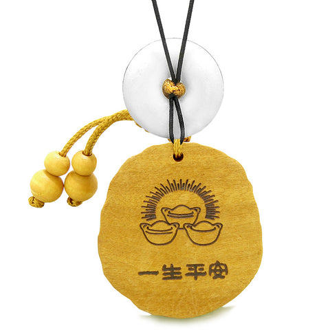 Fortune Coins Magic Todd Car Charm or Home Decor White Quartz Lucky Donut Protection Powers Amulet