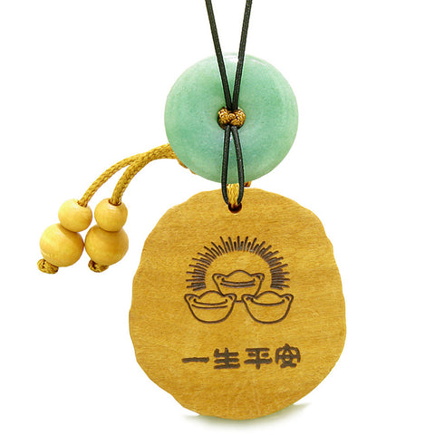 Fortune Coins Magic Todd Car Charm or Home Decor Green Quartz Lucky Donut Protection Powers Amulet