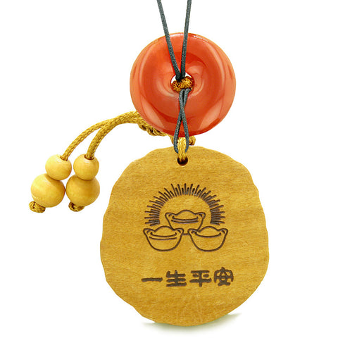 Fortune Coins Magic Todd Car Charm or Home Decor Carnelian Lucky Donut Protection Powers Amulet