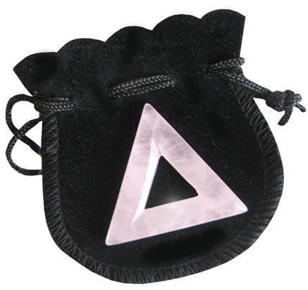 Love Talisman Triangle Donut In Rose Quartz