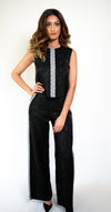 XXB-18  Limited Edition Silk Two-Piece Jumpsuit with Embroidery