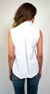#SH1-18 Button-Up Sleeveless Shirt