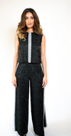 //OUT OF STOCK// XXB-18  Limited Edition Silk Two-Piece Jumpsuit with Embroidery
