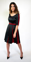 Black Inverted Pleat Dress #106-18 - H A M A