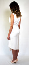 #101-18  White Asymmetric Dress Jacket