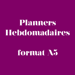 Planner Hebdomadaire format A5