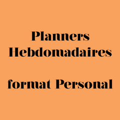 Planner Hebdomadaire format personal