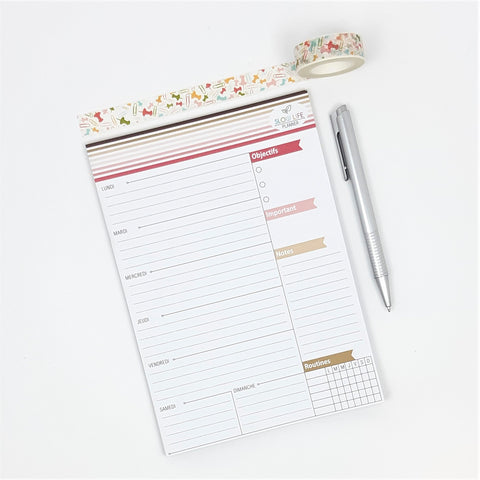 Goodies Bag planner hebdomadaire