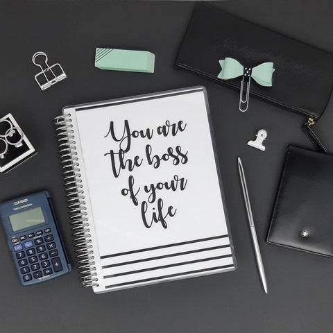 "Carnet de Comptes Luxe - Couverture ""You are the boss..."" - Slow Life Planner"