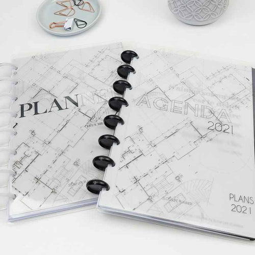 Couvertures transparentes clear planner cover