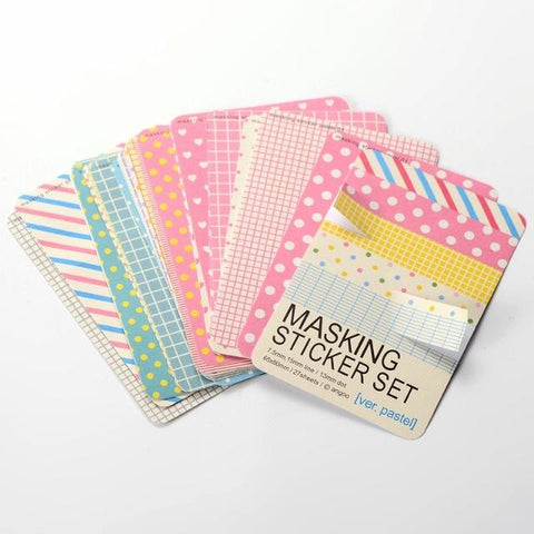 Masking tape colorful sheets