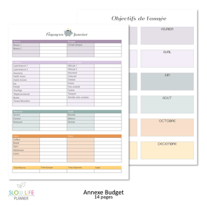 Slow Life Planner annexe Budget