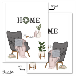 Set de 2 couvertures interchangeables Home