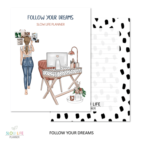 Slow Life Planner Couverture interchangeable Follow your dreams