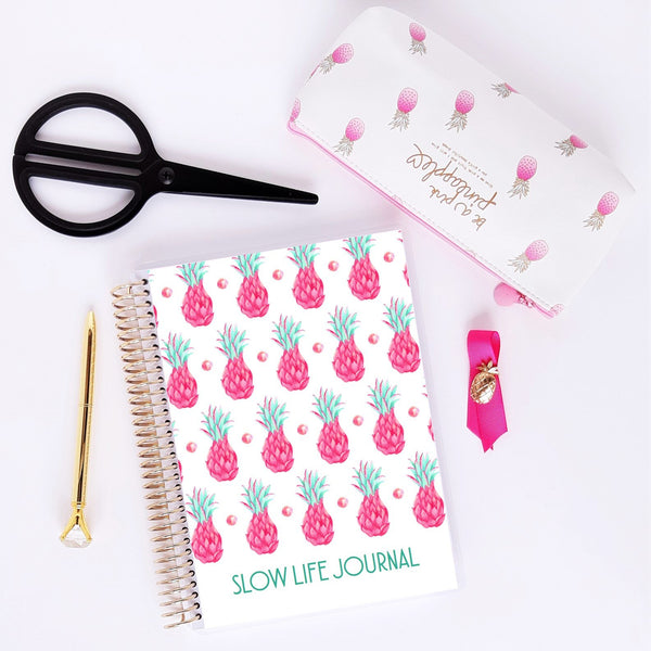 Slow Life Planner journal de notes - bujo - ananas