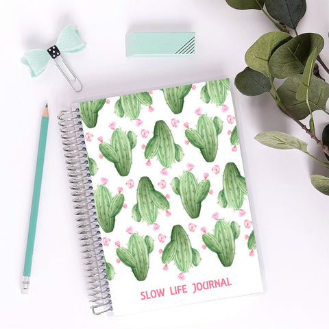 Slow Life Planner journal de notes - bujo - cactus