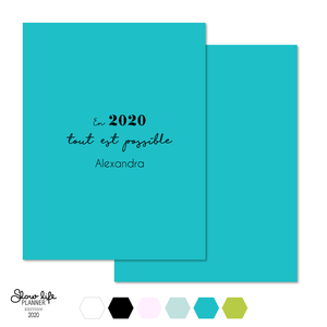 "Set de 2 couvertures interchangeables ""Tout est possible"" - Slow Life Planner"