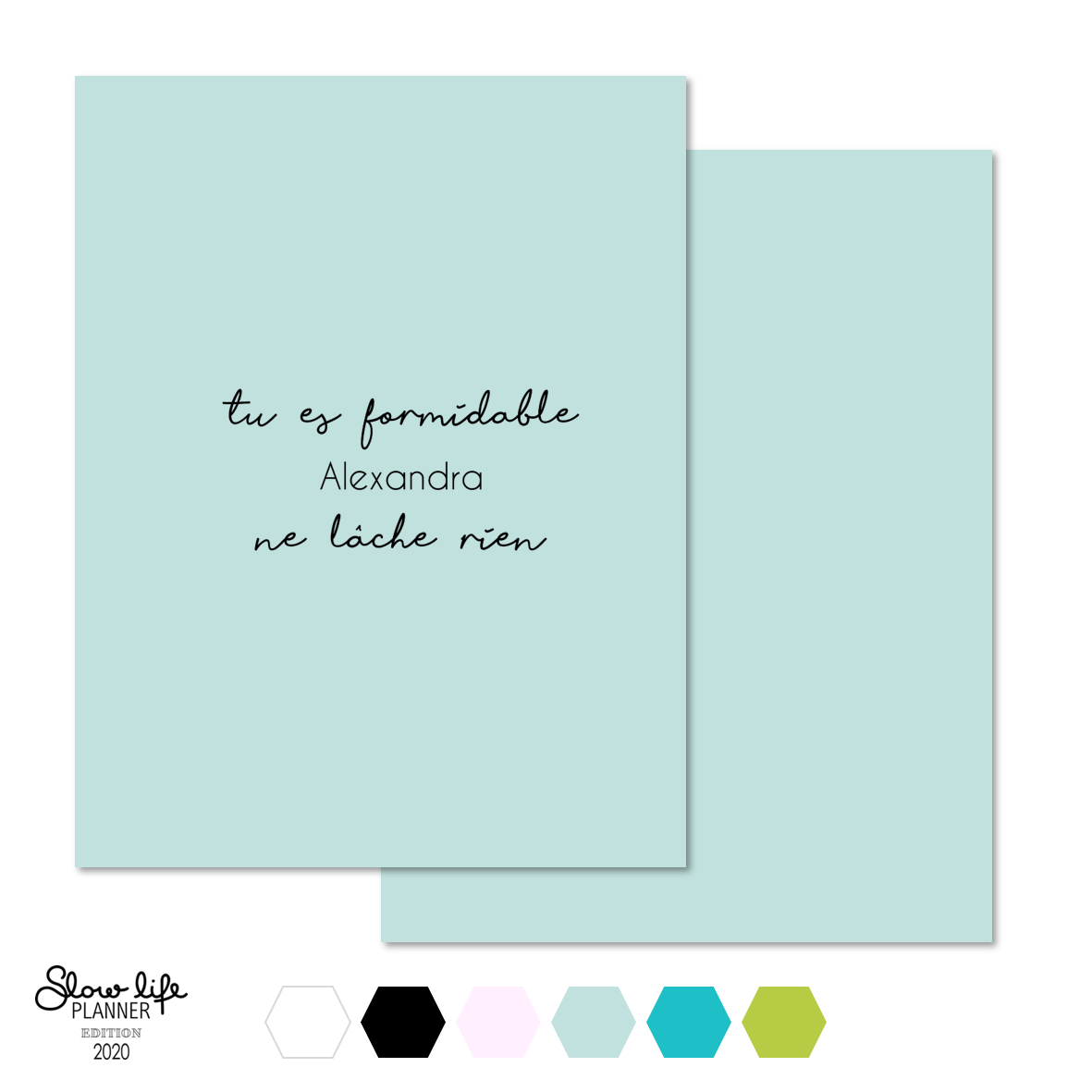 "Set de 2 couvertures interchangeables ""Tu es formidable"""