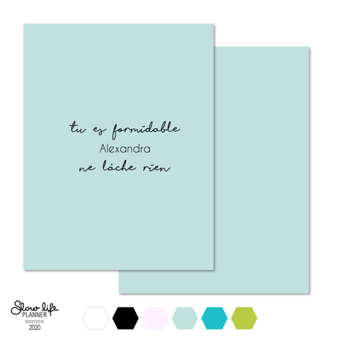 "Set de 2 couvertures interchangeables ""Tu es formidable"" - Slow Life Planner"
