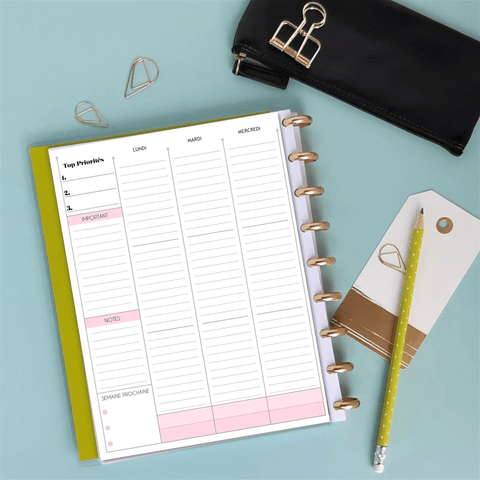 Inserts Planner 2020 - Classic Verticale Focus - Slow Life Planner