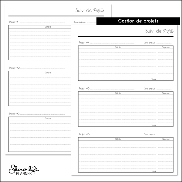 "Carnet de Comptes standard - Couverture ""Plan with me"" - Slow Life Planner"