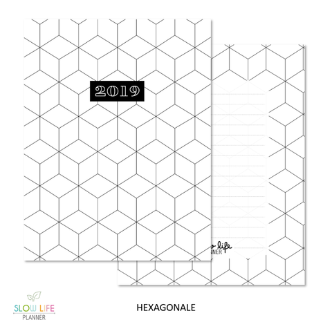Slow Life Planner Couverture interchangeable hexagonale