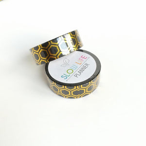 Gold foiled washi tape