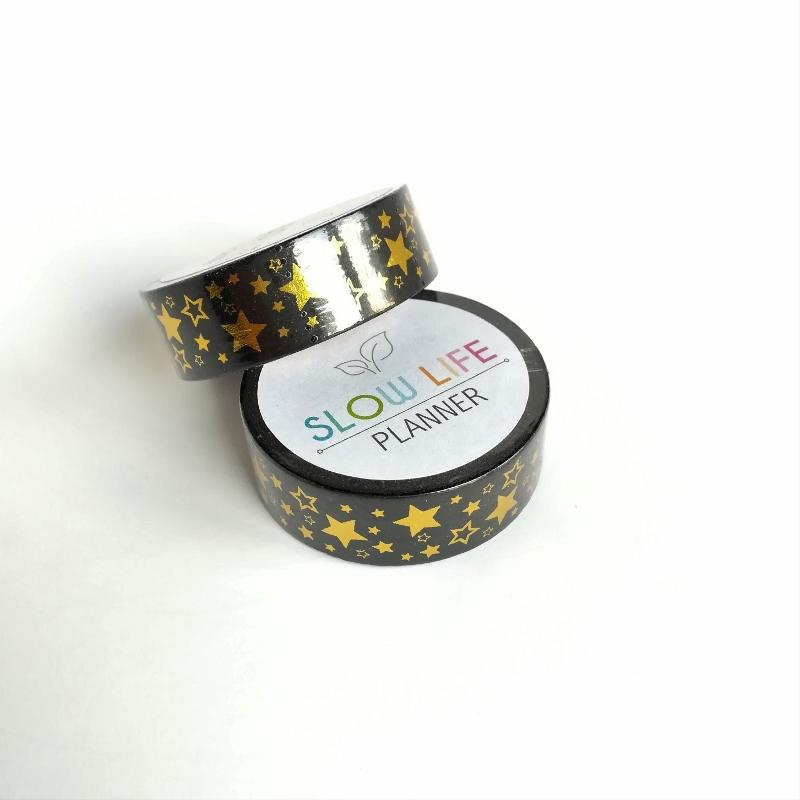 Gold foiled stars washi tape