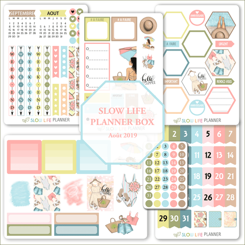 Goodies Planner Box d'Août 2019