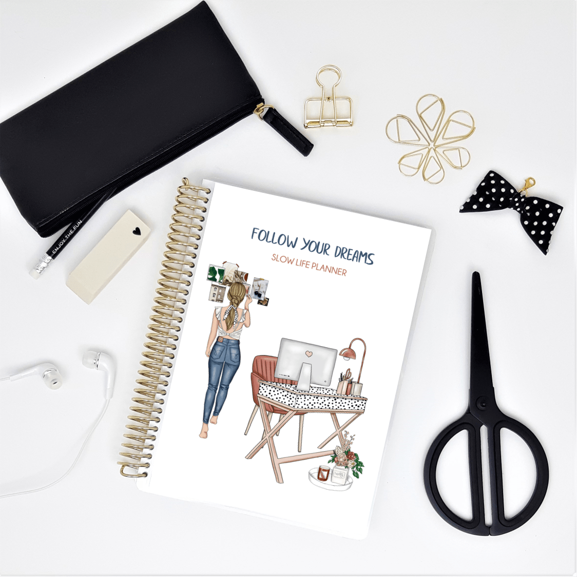 Slow Life Planner journal de notes - bujo - Follow your dreams