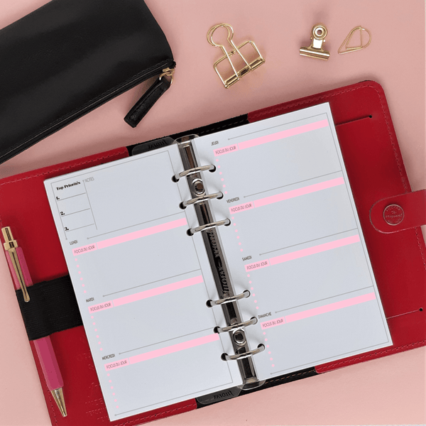 Inserts Planner 2020 - Classic Horizontale 6 trous