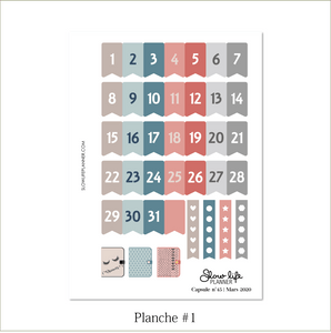 Slow Life Planner Stickers Box Capsule #45 planche 1