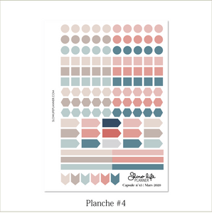 Slow Life Planner Stickers Box Capsule #45 planche 4