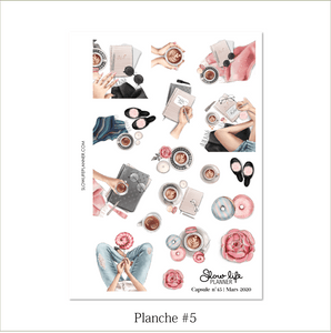 Slow Life Planner Stickers Box Capsule #45 planche 5