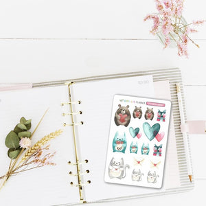 "Stickers ""Animaux mignons"" - Slow Life Planner"