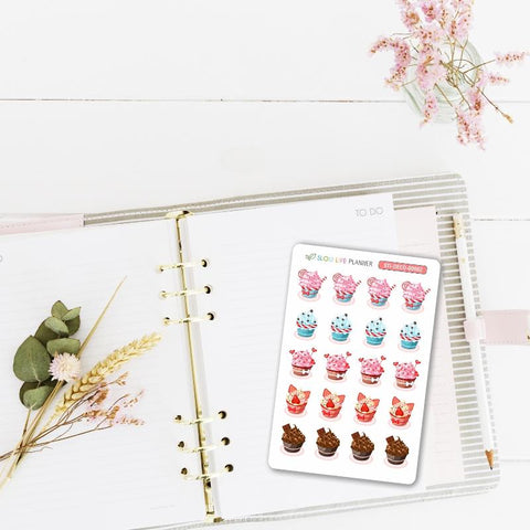 "Stickers ""Cupcakes"" - Slow Life Planner"