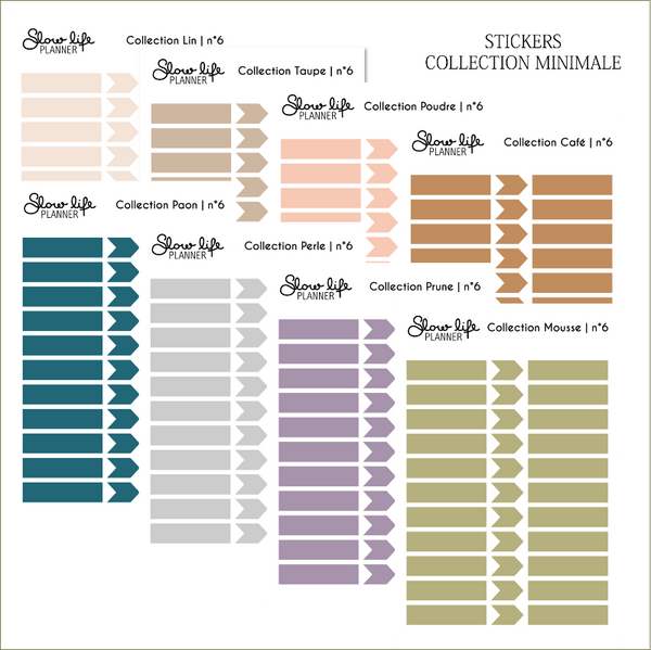 Set de 6 planches de stickers minimal
